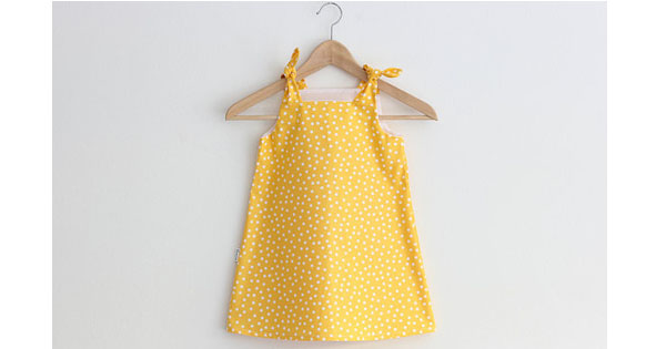 dress Etsy find of the day   yellow spotted sundress