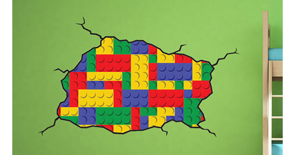 lega decal 2 Etsy find of the day   Lego wall decal