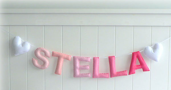 name banner Etsy find of the day   personalised felt name banner