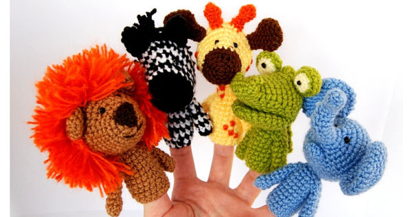 puppets1 Etsy find of the day   crocheted finger puppets