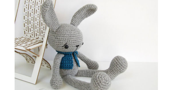 rabbit1 Etsy find of the day   crocheted soft toy rabbit