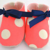 Etsy find of the day – neon spotted baby shoe
