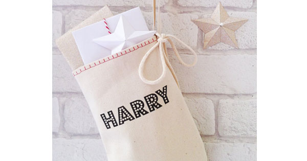 stocking Etsy find of the day   personalised Christmas stocking