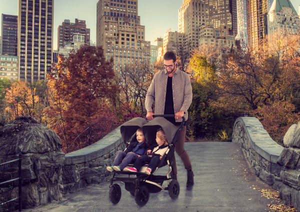 Duet lifestyle Sidebyside Introducing the new Mountain Buggy Duet, with clever accessories