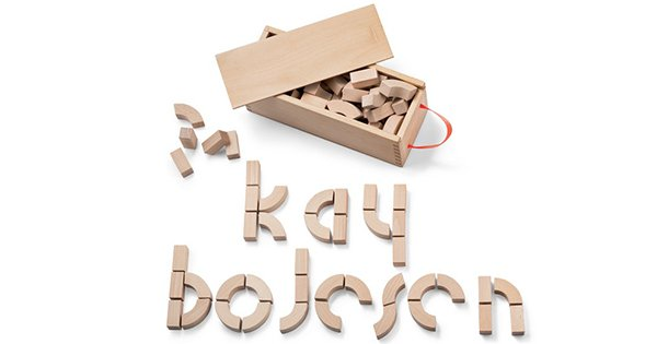 Kay Bojesen Alphabet Blocks FB