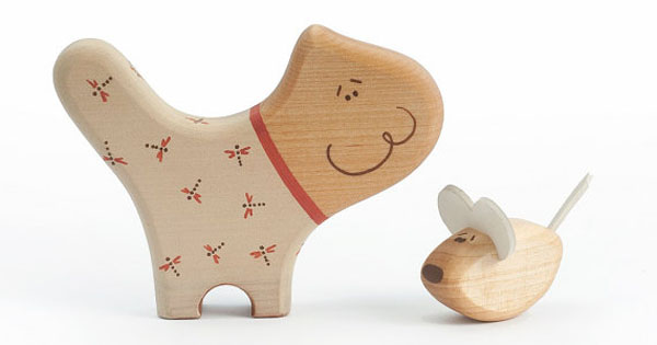 cat mouse Etsy find of the day   wooden cat and mouse toy