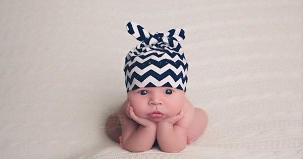 chevron newborn hat