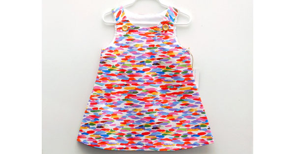 rainbow Etsy find of the day   watercolour rainbow dress