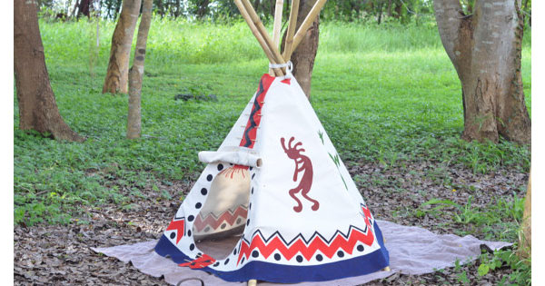 teepee1 Etsy find of the day   hand painted teepee