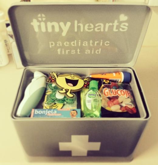 tiny hearts firts aid kit