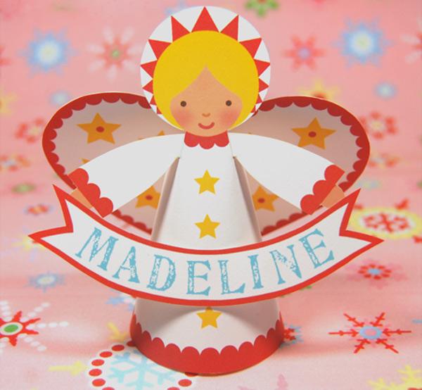 free christmas angel printable diy kids crafts