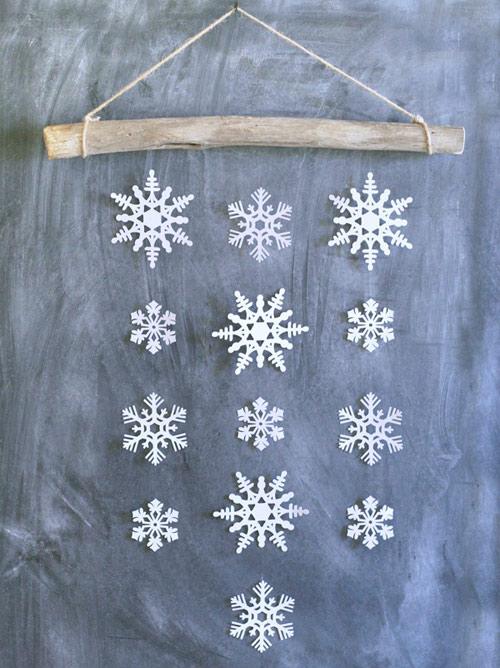 snowflake mobile wall hanging