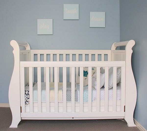 Lincoln-7, blue nursery Boori cot