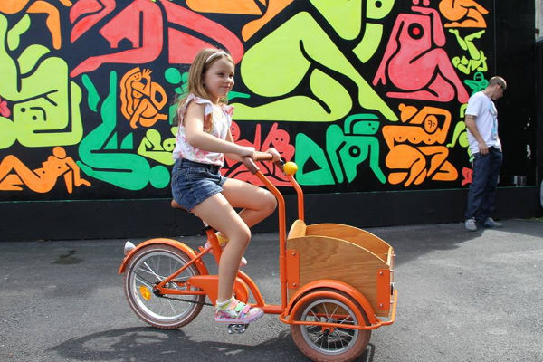 cargobikes Kids can ride in retro style with Republic Cargo Bikes