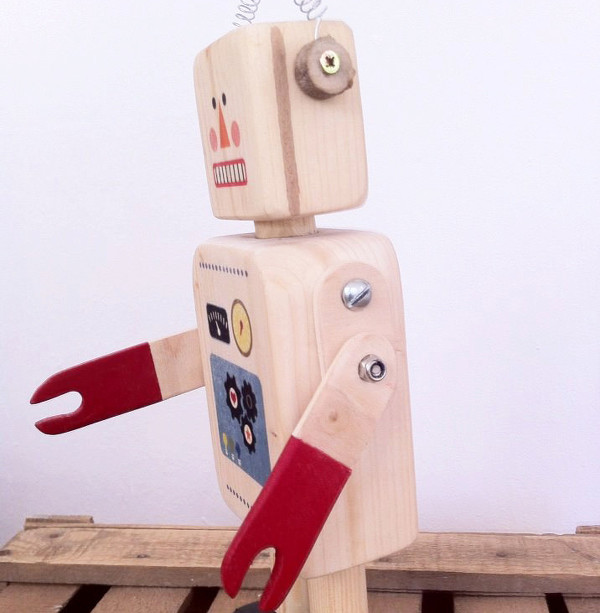 Little Wood Toys Etsy robot