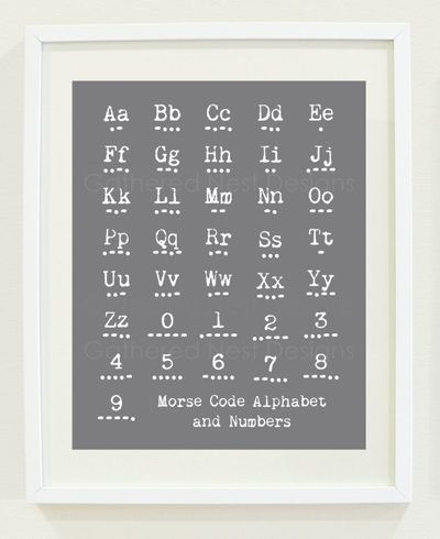 morse code alphabet print