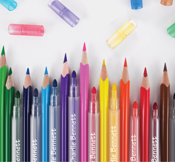 stuck on you personalised pencils and markers