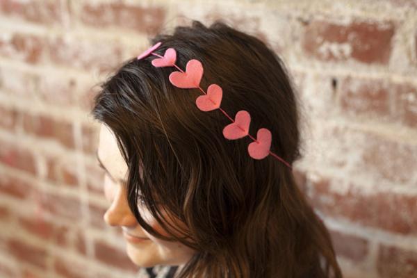 heart head band