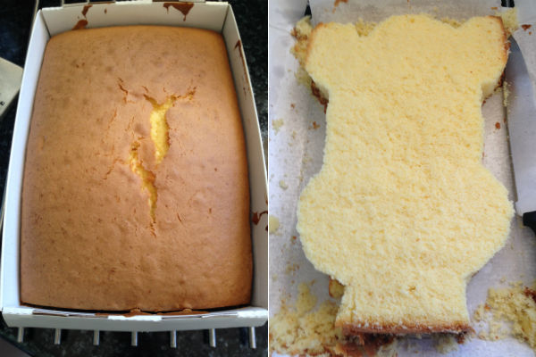 cake before after