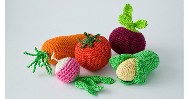 crochet vegetable rattles Etsy find of the day   crochet vegetable rattles