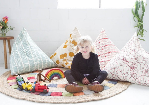 pyramini cushion by Ink & Spindle