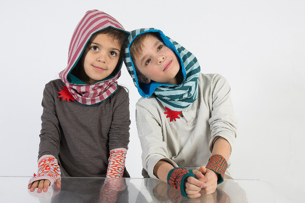 Red Urchin Autumn Winter hoodies armwarmers