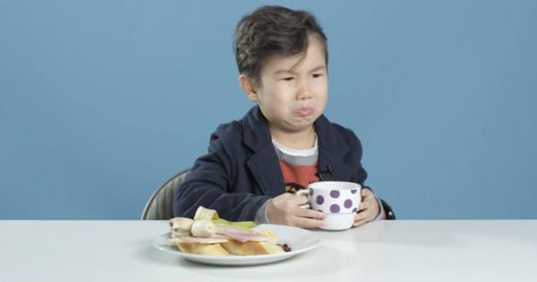 American boy tries Brazilian coffee