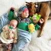 Famous puppy and toddler have a new napping friend