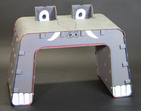 Kids Imagination furniture diy cardboard desk