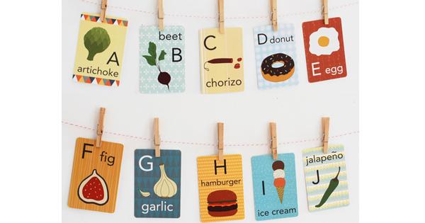 food-alphabet-cards