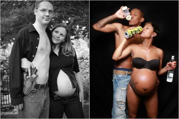 bad pregnancy photo shoots