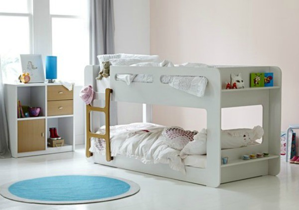 snooze white bunk bed