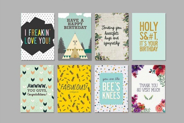 Fox and Beau greeting cards