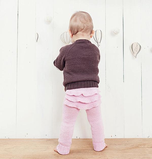 Gera Bloga pink ruffle leggings