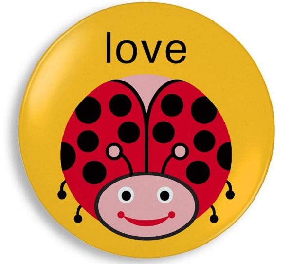 Jane Jenni_love bug melamine plate