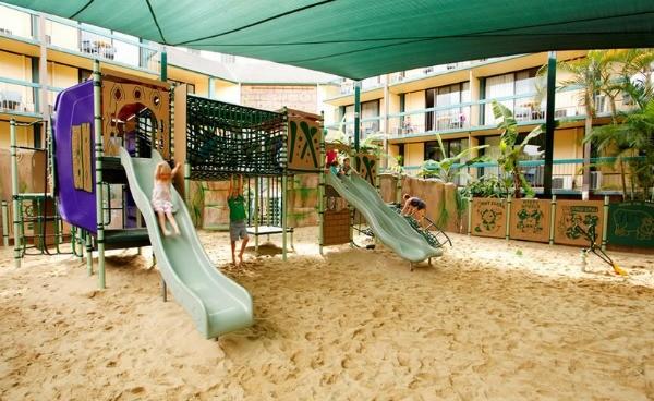 Paradise resort outdoor park