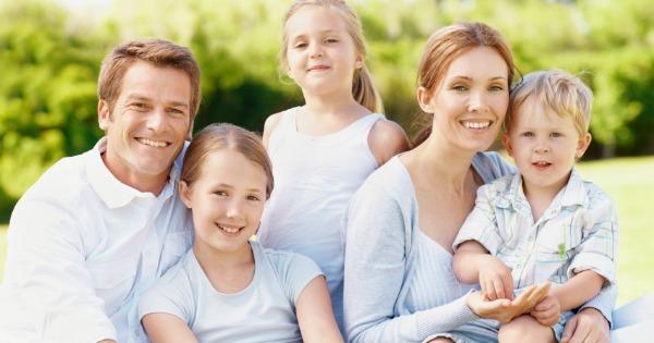 family with mum dad and three children