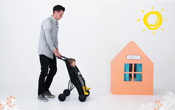 Pahoj Stroller Bike Seat Dad