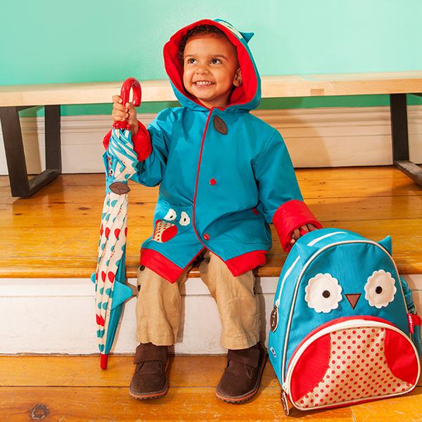 Skip Hop Zoo Raincoat Backpack Owl