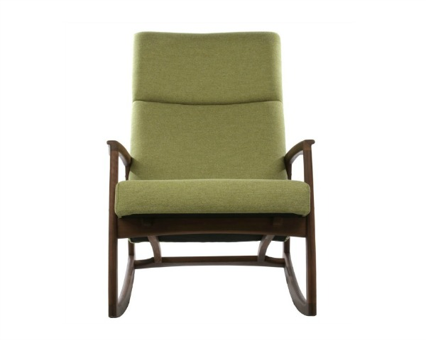 Nursing chairs go modern with the Edvard Danish Design Rocking Chair