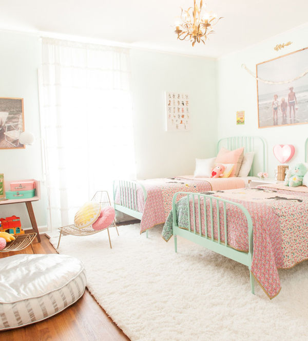 A stunning granddaughters\' guest room for sleepovers at Nana\'s
