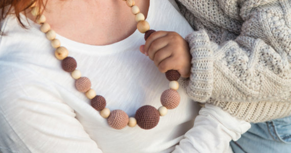 Etsy find of the day - crochet teething necklace