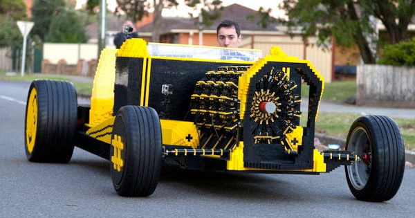 Inventor creates awesome eco-friendly, driveable car entirely from Lego