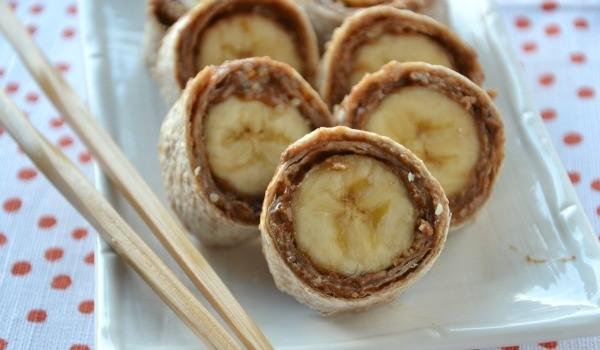 snacks banana sushi