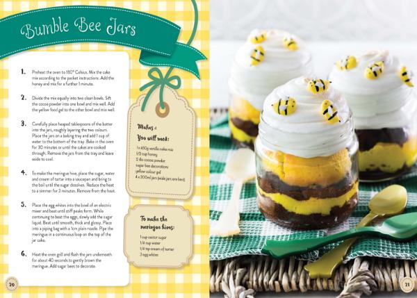 Bumble Bee jars cake