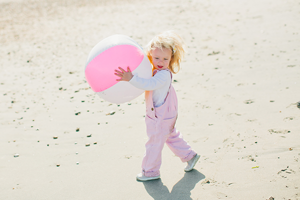 Dotty Dungarees Pink Beach Ball