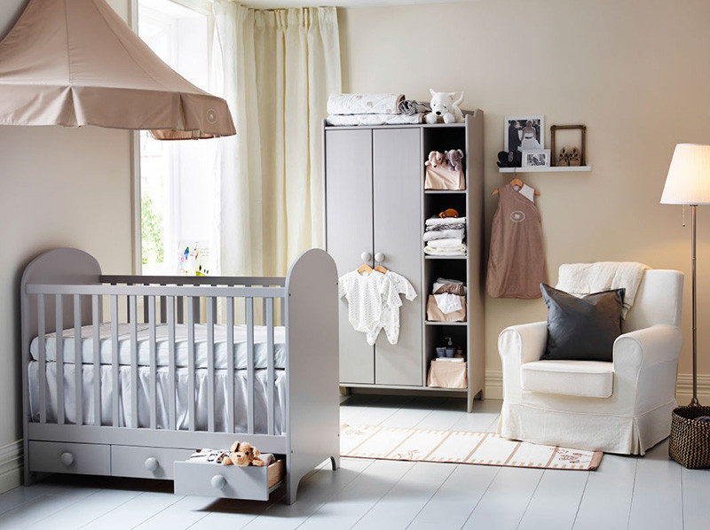 Kit out the nursery in style and on budget with ikea for Chambre bebe garcon taupe