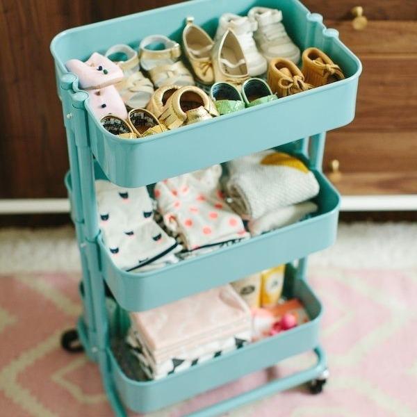 12 brilliant ikea hacks for kids rooms - Baby shoe organizer ideas ...