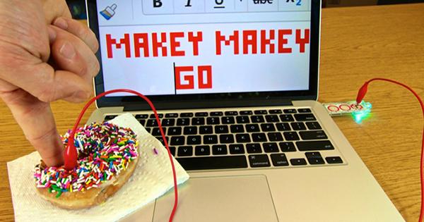 Makey Makey GO donut spacebar