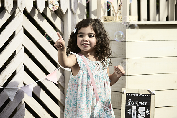 Purebaby spotted dress bubbles